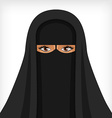 Beautiful muslim woman in black niqab vector image vector image