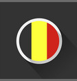 belgium national flag on dark background vector image vector image