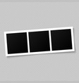 blank photo frame template for design vector image vector image