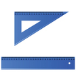 blue ruler vector image vector image