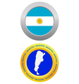 button as a symbol ARGENTINA vector image vector image