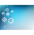 Christmas background with snowflake EPS 10 vector image vector image