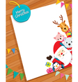 Christmas Card With Santa Claus And Animals vector image vector image