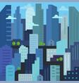 city quarter future building skyscraper vector image vector image