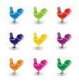 Colorfull Chicken Set vector image vector image