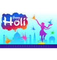 colourful of the indian holi festival vector image vector image