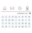 Contact us and Communication icons vector image vector image