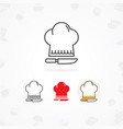 cooking icon icon of cooks hat with knife vector image vector image