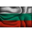 crumpled flag of Bulgaria on a light background vector image vector image