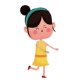 cute girl jump cheerful closed eyes vector image