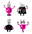 cute retro robots vector image