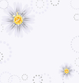 daisy flowers vector image vector image