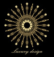 element for design template golden vector image