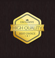 exclusive high quality best choice golden label vector image