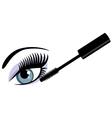 eye blue mascara vector image vector image