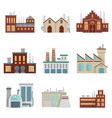 factory set modern industrial vector image