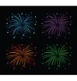 fireworks colour set vector image