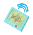 Fishing echo sounder icon cartoon style vector image vector image