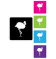 flamingos buttons vector image vector image