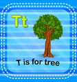 flashcard letter t is for tree vector image vector image