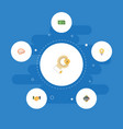 flat icons discussion coin cash and other vector image vector image