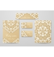 Gold wedding identity template design collection vector image vector image