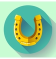 Golden Horseshoe icon Flat design style vector image
