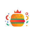 hamburger fast food dish on a vector image