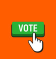 hand mouse cursor clicks the vote button vector image vector image
