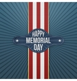 Happy Memorial Day realistic Banner and Ribbon vector image vector image