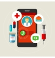 health caal doctor medication mobile phone vector image