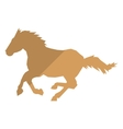 horse silhouette icon vector image vector image