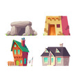 human houses history cartoon collection vector image vector image