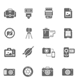 Icon set - camera and accessory vector image