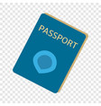 immigrant passport icon flat style vector image