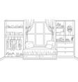 interior a cozy bedroom vector image vector image