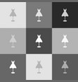 mannequin with dress sign grayscale vector image vector image