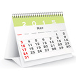 May 2015 desk calendar - vector image vector image