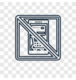 mobile payment concept linear icon isolated on vector image