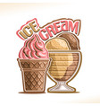 natural ice cream vector image vector image
