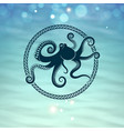 octopus icon vector image
