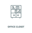 office closet line icon linear concept vector image vector image