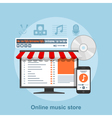 online music store vector image