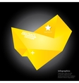 orange polygonal geometric speech bubble vector image