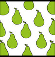pears pattern fresh fruit drawing icon vector image vector image