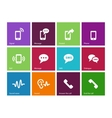 Phone icons on color background vector image vector image