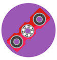 pink rectangular spinner with center bearing vector image vector image