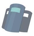 police shields icon cartoon style vector image vector image