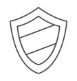 protection thin line icon guard and safety vector image vector image