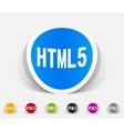 realistic design element HTML5 vector image vector image